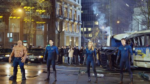 """""""Captain America"""" wasn't Chris Evans' first time battling evil in a form-fitting blue suit. Evans, Ioan Gruffudd, Jessica Alba and Michael Chiklis were the """"Fantastic Four"""" in 2005. They teamed up again in a 2007 sequel."""