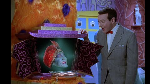 """""""Mecka-lecka hi, Mecka-hiney ho!"""" Jambi was the Playhouse's genie-in-residence. John Paragon, or rather his disembodied head, played Jambi. He was also a writer on the series."""