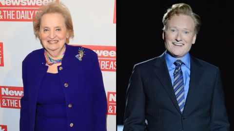 """Former Secretary of State Madeleine Albright did not let Conan O'Brien get away with<a href=""""https://twitter.com/ConanOBrien/status/525375393097056256"""" target=""""_blank"""" target=""""_blank""""> tweeting</a> that he was going as """"Slutty Madeleine Albright"""" for Halloween. She came right back at him with <a href=""""https://twitter.com/madeleine/status/525382849365815296"""" target=""""_blank"""" target=""""_blank"""">a hilarious response.</a>"""