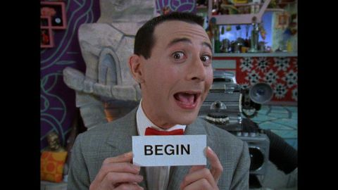 """""""Pee-wee's Playhouse"""" ran from 1986 to 1990, winning 22 Emmys in its 45-episode run. Every day, Pee-wee (Paul Reubens) would give the day's secret word. So for the rest of the day, kids, whenever anyone says the word """"begin,"""" scream real loud, OK?"""