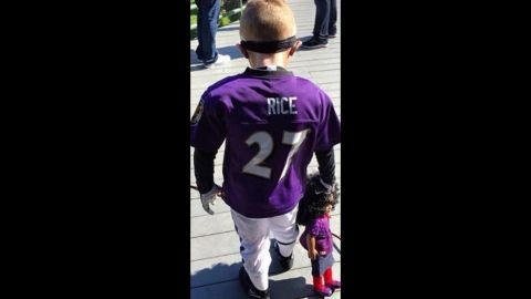A photo emerged on Instagram of a child wearing a Ray Rice costume and dragging a doll. Who thought this was OK?