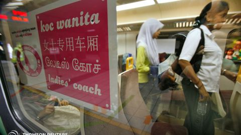 Kuala Lumpur, Malyasia, is one of several cities now offering women-only sections on public transportation.