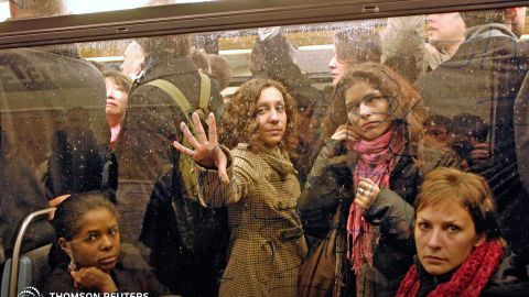 According to the report, 85% of Paris women doubt fellow public transportation users would come to their rescue if they were in trouble.