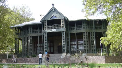 """This 121-year-old wooden building, humble but elegant, was home to the nation's first governor general Muhammed Ali Jinnah for the last phase of his life. The residency <a href=""""http://edition.cnn.com/2013/06/15/world/asia/pakistan-founder-home-attacked/index.html?hpt=hp_t2"""">was attacked with rocket fire by a separatist group in 2013</a>, and almost completely demolished. A new structure is being built on the site."""