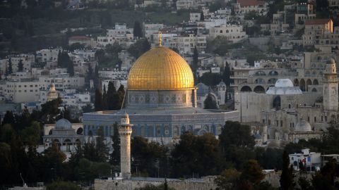 Security cameras have been installed at the entrance of one of Jerusalem's holiest sites, known as the Temple Mount to Jews and the Noble Sanctuary to Muslims.