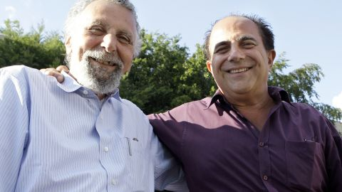 """<a href=""""http://www.cnn.com/2014/11/03/showbiz/celebrity-news-gossip/tom-magliozzi-car-talk-dies/index.html"""" target=""""_blank"""">Tom Magliozzi</a>, left, half of the """"Click and Clack"""" team of brothers who hosted NPR's """"Car Talk"""" radio show, died November 3. He was 77."""
