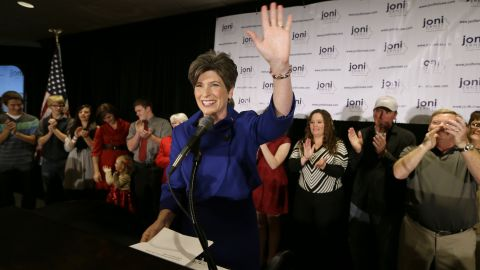 Republican Joni Ernst won the Iowa Senate seat, which formerly belonged to her Democratic challenger Bruce Braley. She is the first woman to represent Iowa in the U.S. Senate.