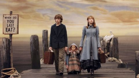 """<strong>""""Lemony Snicket's A Series of Unfortunate Events"""": </strong>In 2004, Lemony Snicket's dark but beloved children's title """"A Series of Unfortunate Events"""" was adapted into a live-action movie starring Jim Carrey. Now, Snicket's story of a trio of kids who are hit by one """"unfortunate event"""" after another is being turned into a TV series by Netflix."""