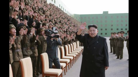 """A picture released by the North Korean Central News Agency shows North Korean leader Kim Jong Un appearing without his cane at an event with military commanders in Pyongyang on Tuesday, November 4. Kim, who recently disappeared from public view for about six weeks, <a href=""""http://www.cnn.com/2014/10/28/world/asia/kim-jong-un-cyst/index.html"""">had a cyst removed</a> from his right ankle, a lawmaker told CNN."""