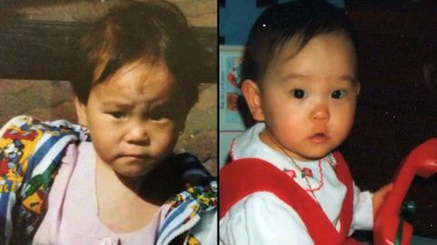 The twins marvel at how they were raised separately and still had the same hairstyles as babies.