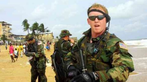 Robert O'Neill, Former Navy SEAL Robert O'Neill said in an interview with The Washington Post that he was the one who fired the final shot to kill Osama bin Laden in 2011,  is seen in an image taken from his Twitter account.