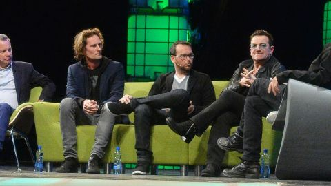 """Also speaking at Web Summit was Eric Wahlforss, co-founder of streaming service Soundcloud (left). """"We care a lot about copyrights and we have automatic filters that can block content on behalf of copyright holders,"""" he said. """"We want to go to a billion monthly listeners, and welcoming major labels is a key point of the journey there."""""""