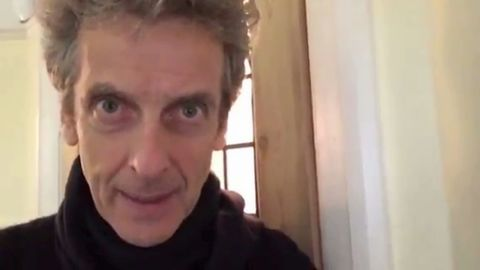 """Peter Capaldi, who plays the 12th incarnation of Doctor Who, sent a video message to a 9-year-old fan grieving the loss of his grandmother. """"You should know that we're on your side. So you look after yourself, take care and be happy."""""""