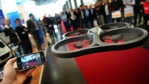 By 2010, drones being exhibited at major high-tech conventions included the ability to monitor the camera's output wirelessly -- and in real-time -- using cellphones.
