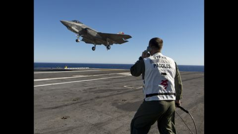 The F-35C is just one version of the aircraft that the Pentagon has developed for use by the Marines and Air Force.