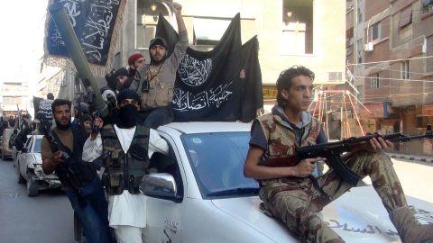 Al Nusra fighters in Syria