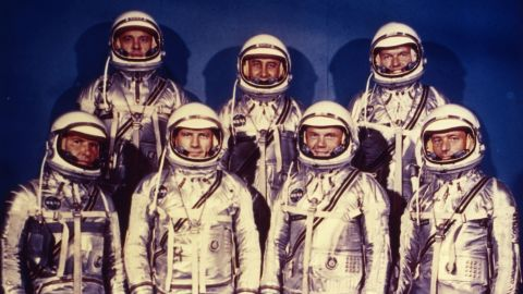 Despite its name, these seven NASA astronauts didn't land on Mercury. Instead, they were part of a mission to orbit the Earth, running from 1959 to 1963.