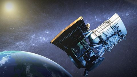 The NEOWISE space telescope hunts for asteroids and comets.