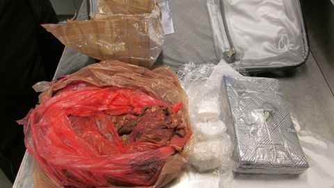 TSA screeners say they found about 3 pounds of cocaine hidden in raw meat in a passenger's luggage at Mineta San Jose International Airport.