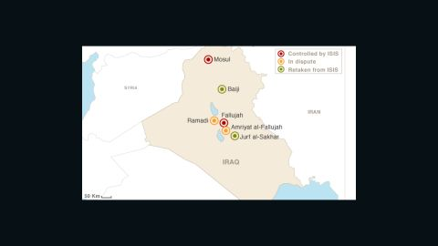 Map: ISIS in Iraq
