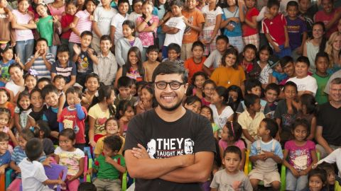 """""""I love my city and my country. I want to inspire these kids,"""" Romero Fuentes said. """"They are the ones in charge of writing the new history in Guatemala."""""""
