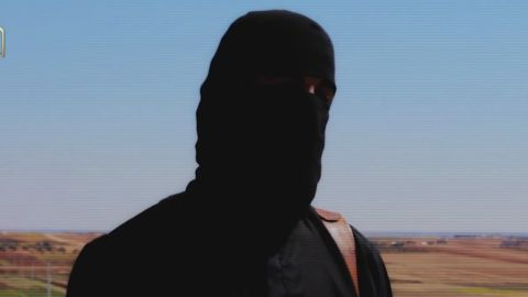 Screengrap from the video published to the Internet on Sunday, purportedly from terror group ISIS, militants claim to have beheaded American hostage Peter Kassig. The video shows the aftermath of a beheading, in which the victim is not clearly recognizable. CNN has not been able to confirm the authenticity of the video nor the identity of the victim.