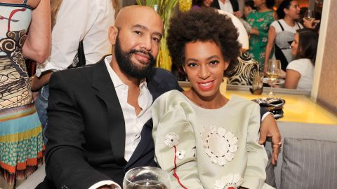 Alan Ferguson and Solange Knowles in New York City in July 2013.