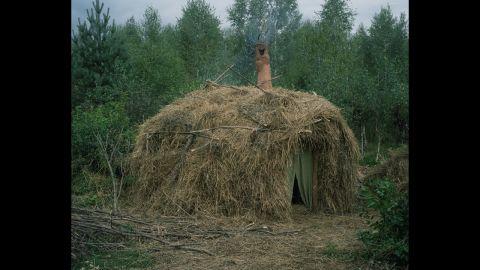 One hermit's hut in Russia.
