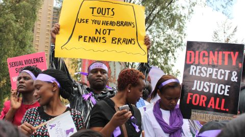 Protesters crowded the streets of Nairobi, Kenya on Monday, November 17, to send a message that women should not be attacked for the way they dress.