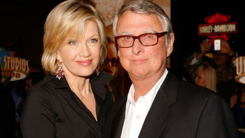 """Acclaimed film director <a href=""""http://www.cnn.com/2014/11/20/showbiz/obit-mike-nichols/index.html"""">Mike Nichols</a> died on November 19. Nichols, pictured here with his wife, journalist Diane Sawyer, was best known for his films """"The Graduate,"""" """"Who's Afraid of Virginia Woolf?"""" and """"The Birdcage."""" He was 83."""