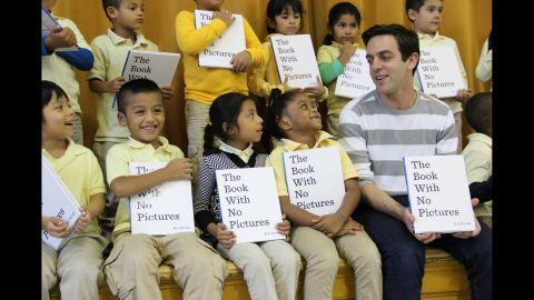"""Actor B.J. Novak (right), who is best known for his role as Ryan Howard in """"The Office,"""" has written a hit children's book."""