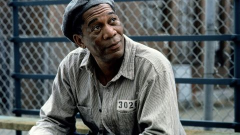 """<strong>Then:</strong> When Morgan Freeman signed up to play Red, the prison contraband smuggler who befriends Tim Robbins' falsely accused Andy, he was stunned that he landed the part. When he was set to audition, called his agent """"and said, 'It doesn't matter which part it is; I want to be in it,' """" Freeman <a href=""""http://www.hollywoodreporter.com/news/morgan-freeman-golden-globes-281468"""" target=""""_blank"""" target=""""_blank"""">recalled to The Hollywood Reporter</a>. """"He said, 'Well, I think they want you to do Red.' And I thought, Wow, I control the movie! I was flabbergasted by that."""" The role earned Freeman his third Oscar nomination."""
