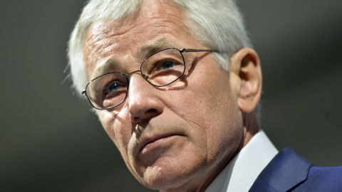 CHICAGO, IL - MAY 6:  U.S. Secretary of Defense Chuck Hagel speaks at an event hosted by the Chicago Council on Global Affairs and the University of Chicago Institute of Politics at the Fairmont Hotel on May 6, 2014 in Chicago, Illinois. Hagel's speech focused on the military's transition from 13 years of war to a new era with different strategic priorities and fiscal constraints.  (Photo by Brian Kersey/Getty Images)