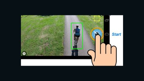 You then select a target to follow using the smartphone's camera. Mind4 will then track the selected item from up to 20 meters (65 feet) above and at maximum distance of up to 50 meters (164 feet) behind using its autopilot feature.