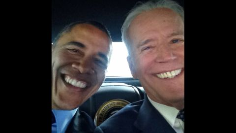 """U.S. Vice President Joe Biden <a href=""""http://instagram.com/p/m3z66SlwW4/?modal=true"""" target=""""_blank"""" target=""""_blank"""">posted the first selfie</a> to his new Instagram account on Wednesday, April 16 -- and it was with President Barack Obama. The White House Twitter account also posted the photo with a simple caption: """"Pals."""" <a href=""""http://www.cnn.com/2014/04/17/politics/gallery/biden-and-obama/index.html"""">See more photos of the Obama-Biden partnership</a>"""