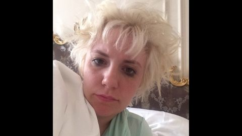 """""""Is this what Beyonce was singing about?"""" asked actress Lena Dunham in this early morning selfie <a href=""""http://instagram.com/p/sRkQFjC1Gv/"""" target=""""_blank"""" target=""""_blank"""">posted to Instagram</a> on Friday, August 29. She was referring to the """"I woke up like this"""" line from Beyonce's song """"Flawless."""""""
