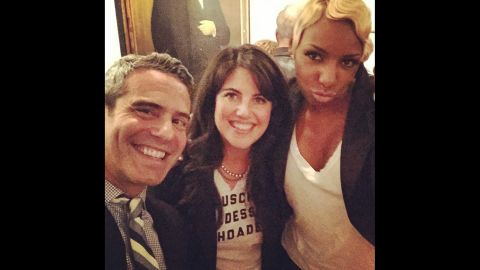 """Television personality Andy Cohen <a href=""""http://instagram.com/p/vFNH3SnwWJ/"""" target=""""_blank"""" target=""""_blank"""">posted this selfie</a> with Monica Lewinsky, center, and """"Real Housewives of Atlanta"""" star NeNe Leakes on Thursday, November 6. They were celebrating Cohen's latest book, """"The Andy Cohen Diaries,"""" at the home of CNN's Anderson Cooper. Cohen is an executive producer on """"The Real Housewives"""" franchise."""