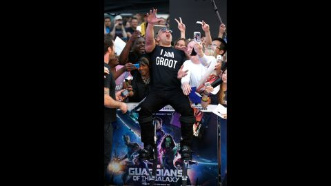 """Actor Vin Diesel attends a """"Guardians of the Galaxy"""" premiere in London on Thursday, July 24"""
