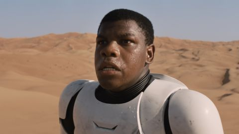 """Actor John Boyega also will appear in the next Star Wars film. He popped up, literally, in the first trailer for the film, generating complaints from some fans about """"black stormtroopers."""" He told them to """"get over it."""""""