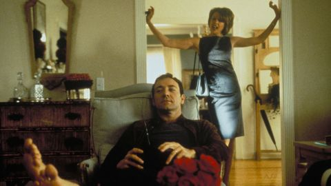 """<strong>""""American Beauty""""</strong>: A frustrated suburban father has a midlife crisis after he becomes infatuated with his daughter's best friend. <strong>(Amazon Prime) </strong>"""