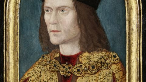 Tests suggest Richard III had blue eyes and -- at least as a child -- blond hair; this portrait is likely to be most accurate.
