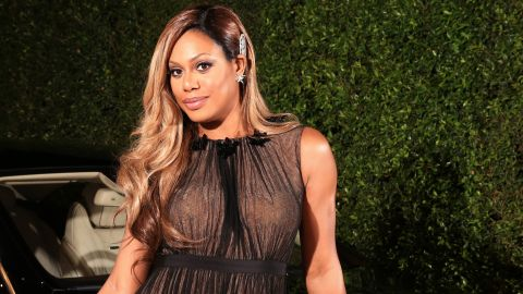 """""""Orange Is the New Black"""" actress Laverne Cox attends an August 2014 event for Emmy nominees. Cox became the first openly transgender person to appear on the cover of Time magazine."""