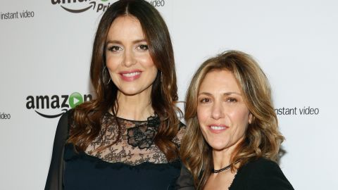 """""""Agents of S.H.I.E.L.D."""" actress Saffron Burrows, left, revealed in an interview with <a href=""""http://www.theguardian.com/tv-and-radio/2014/dec/01/saffron-burrows-married-to-alison-balian-mozart-in-the-jungle"""" target=""""_blank"""" target=""""_blank"""">The Guardian</a> that she eloped with her longtime girlfriend, """"Ellen DeGeneres Show"""" writer Alison Balian, in August 2014."""
