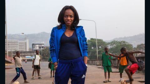 """""""This virus is about sweat, blood, and interaction,"""" said the country's Football Association president  Isha Johansen (pictured). """"And that's football. There's a lot of interaction, there's a lot of sweat and blood."""""""