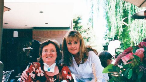 Anthony Carbajal's grandmother, Marie Doran, (left) with his mom.