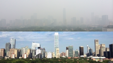 A sense of humor helps. Beijingers coined the wry phrase '#APEC blue' after authorities used extreme measures to control pollution during November's APEC summit. The smog quickly returned after the summit finished and world leaders had departed. With snow forecast this week in the capital, locals have coined a new weather word: snoggy.