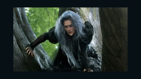 """<strong>Best supporting actress: </strong>Meryl Streep in """"Into the Woods"""" (pictured), Patricia Arquette in """"Boyhood,"""" Laura Dern in """"Wild,"""" Keira Knightley in """"The Imitation Game"""" and Emma Stone in """"Birdman or (The Unexpected Virtue of Ignorance)."""""""