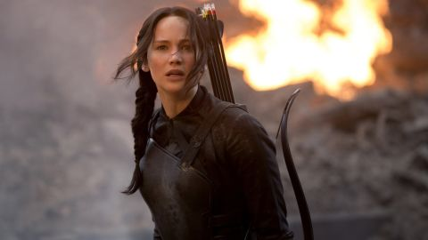 """<a href=""""http://popwatch.ew.com/2011/03/17/jennifer-lawrence-too-old-katniss-hunger-games/"""" target=""""_blank"""" target=""""_blank"""">While some originally questioned her casting as the """"Hunger Games"""" heroine</a>, it is now hard to imagine anyone else rocking that side braid."""
