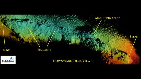 The sonar images of the SS City of Rio de Janeiro are part of the National Oceanic Atmospheric Administration's two-year study to map shipwrecks in the Golden Gate National Recreation Area and Gulf of the Farallones National Marine Sanctuary.