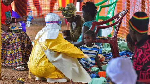 """Despite the few high-profile cases in the United States, most people are dying from Ebola thousands of miles away from most American eyes. Medical teams from <a href=""""http://www.msf.org/"""" target=""""_blank"""" target=""""_blank"""">Médecins Sans Frontières/Doctors Without Borders</a>,  are shown here in Sierra Leone. Your donations can help in the fight against the deadly epidemic."""